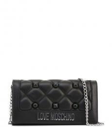 Love Moschino Black Stud Quilt Clutch