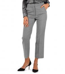 BlackWhite Wool Printed Pants