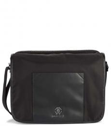 Roberto Cavalli Black Flap Large Messenger Bag