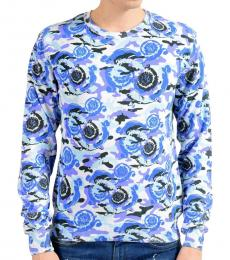 Versace Collection Blue Graphic Print Sweater
