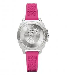 Coach Pink Silicone Watch