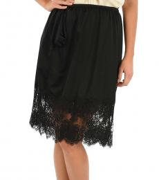 Black Lace Detail Skirt