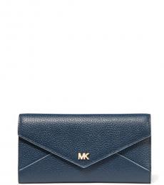 Michael Kors Navy Mott Slim Envelope Trifold Wallet