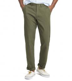 Olive Straight-Fit Flex Pant