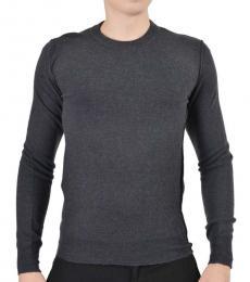 Dolce & Gabbana Grey Knitted Distressed Sweater