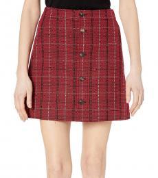 McQ Alexander McQueen Red Varsity Skirt