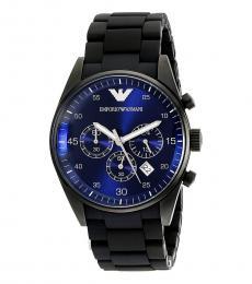 Emporio Armani Black Sportivo Chronograph Watch