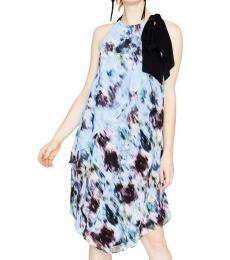 Rachel Roy Multi color Chiffon Halter Party Midi Dress