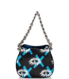 Prada Black Printed Small Shoulder Bag
