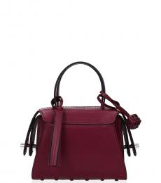 Tod's Cherry Piped Mini Satchel