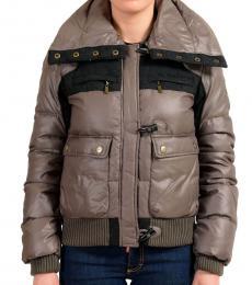 Brown Parka Full Zip Jacket