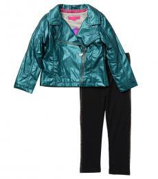 Betsey Johnson 3 Piece Jacket/Top/Leggings Set (Baby Girls)