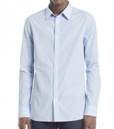 Light Blue Pinstriped Shirt