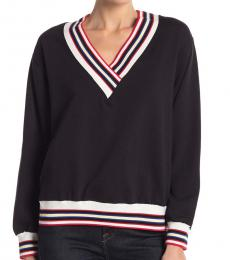 Black Striped Contrast Sweater