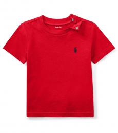 Ralph Lauren Baby Boys Red Crewneck T-Shirt