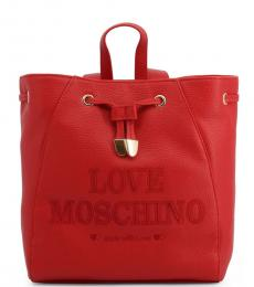Red Made With Love Medium Backpack