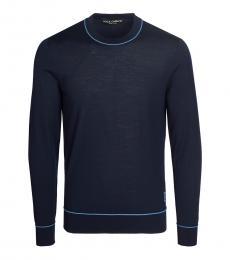 Dolce & Gabbana Dark Blue Striped Sweater
