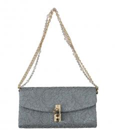 Blue Lace Padlock Small Shoulder Bag