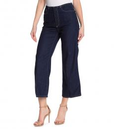 AG Adriano Goldschmied Midnight High Waist Wide Leg Jeans