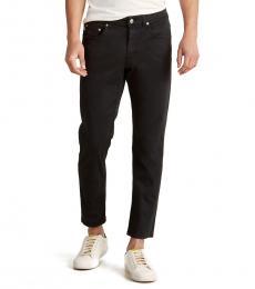 Black Rubber Detail Pants