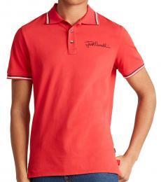 Just Cavalli Red Cursive Logo Polo