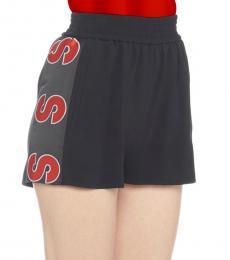 Stella McCartney Black Logo Shorts
