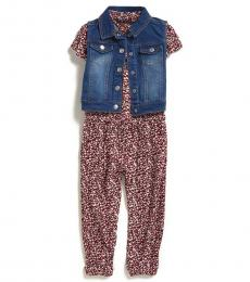 7 For All Mankind 2 Piece Jumpsuit/Vest Set (Little Girls)