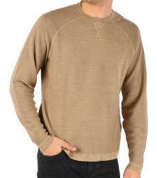 Ermenegildo Zegna Beige Cotton Cashmere Sweatshirt