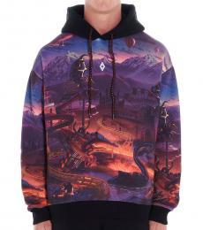 Marcelo Burlon Dark Blue Fantasy Hooded Sweatshirt