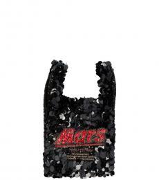 Anya Hindmarch Black Mars Mini Satchel