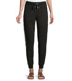 Karl Lagerfeld Black Tapered Logo Jogging Pants