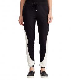 Ralph Lauren Petite Polo Black  Terry Track Pant