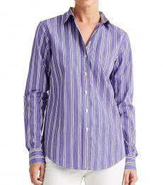 Ralph Lauren Lavender Multi Relaxed-Fit Striped Shirt