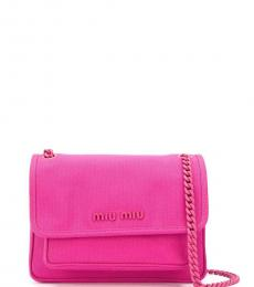 Fuchsia Logo Medium Shoulder Bag