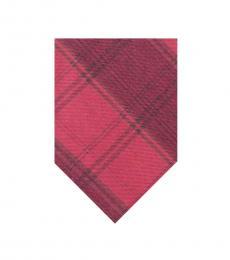 Calvin Klein Red Plaid Modish Tie