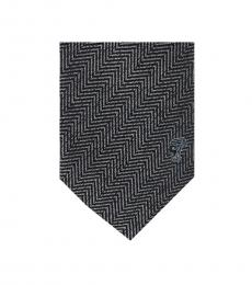 Versace Grey Herringbone Tie