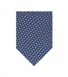 Michael Kors Blue Cube Tile Silk Tie