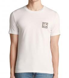White Logo Label T-Shirt