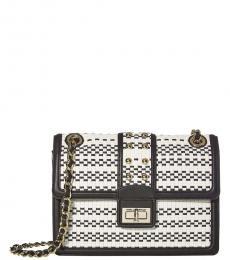 Black White Large Shoulder Bag