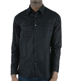 Emporio Armani Dark Blue Cotton Popeline Shirt