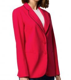 Emporio Armani Red & Black Tailored Single Breasted Blazer