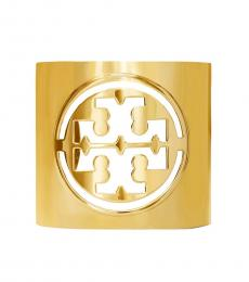 Tory Burch Rolled Brass Miller Large Logo Cuff Bracelet
