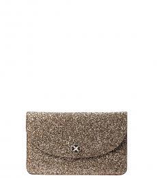 Kate Spade Rose Gold Odette Glitter Clutch
