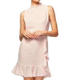 Betsey Johnson Light Pink Polka Dot Ruffled Party Dress