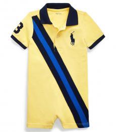 Ralph Lauren Baby Boys Oasis Yellow Mesh Polo Shortall