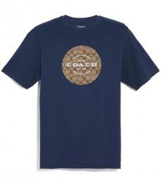 Coach Navy Logo Signature T-Shirt