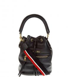 Miu Miu Black Logo Small Bucket Bag