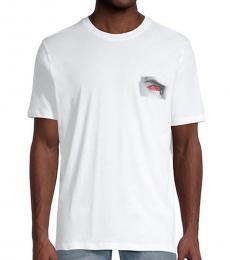 Hugo Boss White Deye Graphic T-Shirt