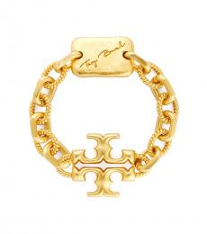 Tory Burch Rolled Brass Torsade Bracelet