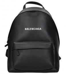 Balenciaga Black Logo Large Backpack